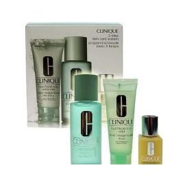 Clinique 3-Step Skin Care 1, rinkinys prausiamasis vanduo moterims, (50ml veido muilas Extra Mild +