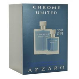 Azzaro Chrome United, rinkinys tualetinis vanduo vyrams, (EDT 100ml + 30ml EDT)
