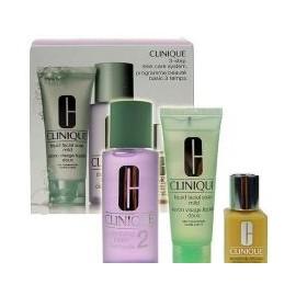 Clinique 3-Step Skin Care 2, rinkinys prausiamasis vanduo moterims, (50ml veido muilas Mild + 100ml